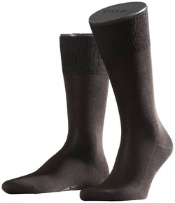 Falke No. 9 Socks Egyptian Karnak Cotton Socks Brown