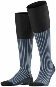 Falke Oxford Stripe Knee-Highs Anthracite Melange