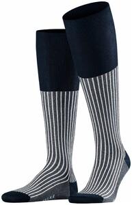 Falke Oxford Stripe Knee-Highs Atlantic
