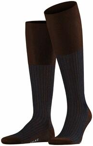 Falke Oxford Stripe Knee-Highs Chestnut Melange