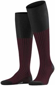 Falke Oxford Stripe Knee-Highs Near Black