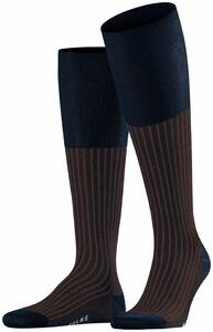 Falke Oxford Stripe Knee-Highs Plum