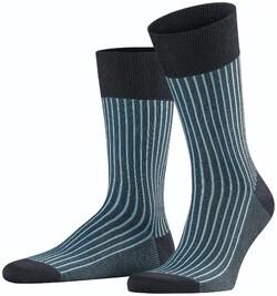 Falke Oxford Stripe Socks Dark Navy