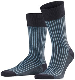Falke Oxford Stripe Socks Dark Navy