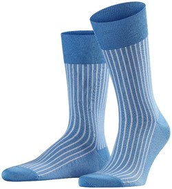 Falke Oxford Stripe Socks Linen Blue