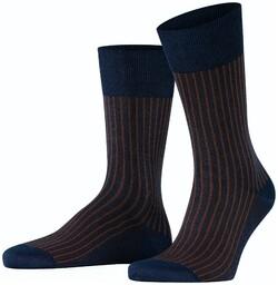 Falke Oxford Stripe Socks Plum