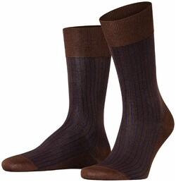 Falke Oxford Stripe Sokken Kastanje