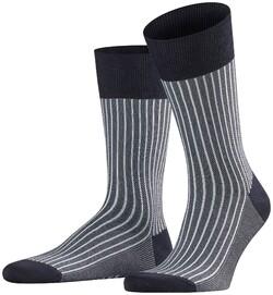 Falke Oxford Stripe Sokken Midnight Navy