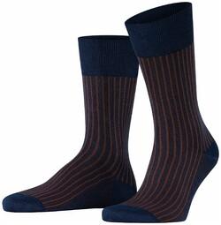 Falke Oxford Stripe Sokken Plum