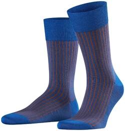 Falke Oxford Stripe Sokken Saffier