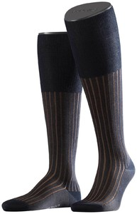 Falke Shadow Kniekousen Knee-Highs Navy-Brown