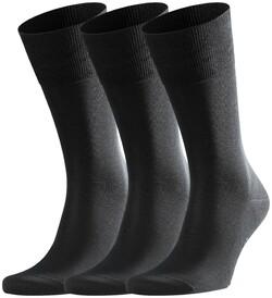 Falke Tiago Sock 3-Pack Sokken Zwart