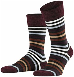 Falke Tinted Stripe Sokken Blauw-Blauw