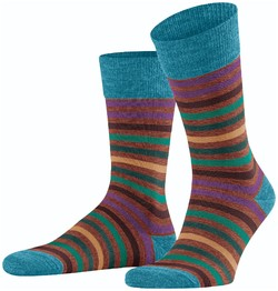 Falke Tinted Stripe Sokken Copper