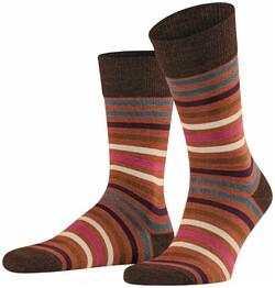 Falke Tinted Stripe Sokken Oranje
