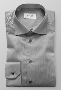 Eton Slim Cutaway Signature Twill Midden Grijs