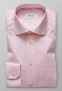 Eton Check Twill Roze