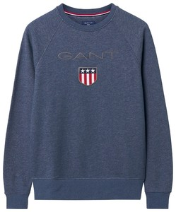 Gant Gant Shield Sweat Dark Jeansblue Melange