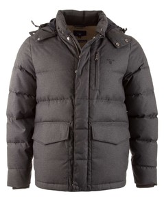 Gant York HerringBone Down Jacket -  Dark Graphite