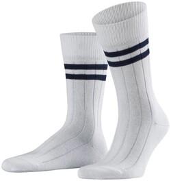 Falke Uni Socks Wit-Blauw