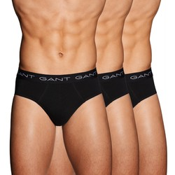 Gant 3Pack Cotton Hip Briefs Zwart
