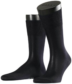 Falke No. 4 Pure Silk Socks Navy