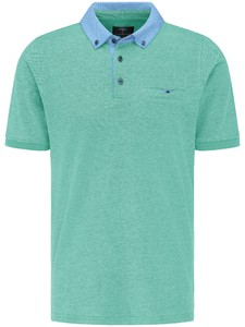 Fynch-Hatton 2-Tone Contrast Collar Polo Peppermint