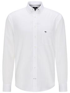 Fynch-Hatton All-Season Oxford Uni Overhemd Wit