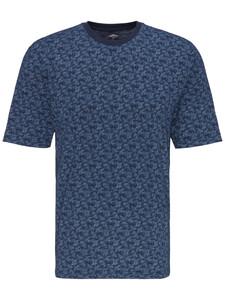Fynch-Hatton Allover Leaf Fantasy T-Shirt T-Shirt Midnight