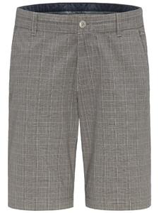 Fynch-Hatton Bermuda Garment Dyed Check Bermuda Asphalt