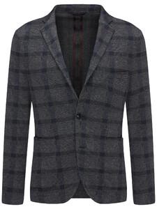 Fynch-Hatton Blazer Jersey Check Blazer Navy