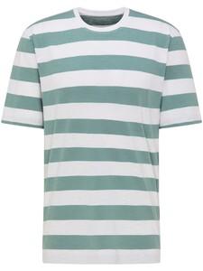 Fynch-Hatton Blockstripe Round Neck T-Shirt White-Lindgreen