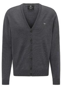 Fynch-Hatton Cardigan Button Merino Vest Ashgrey