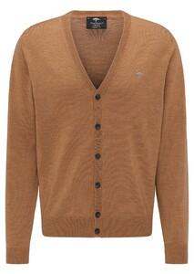 Fynch-Hatton Cardigan Button Merino Vest Camel