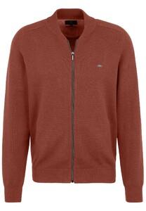 Fynch-Hatton Cardigan College Zipper Cotton Vest Toscana