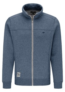 Fynch-Hatton Cardigan Faux Uni Zip Vest Indigo