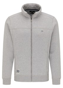 Fynch-Hatton Cardigan Faux Uni Zip Vest Silver