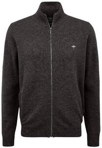 Fynch-Hatton Cardigan Zip Elbow Patches Premium Lambswool Vest Arabica