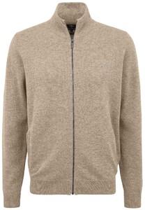 Fynch-Hatton Cardigan Zip Elbow Patches Premium Lambswool Vest Canvas