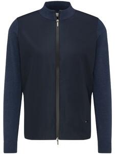 Fynch-Hatton Cardigan Zip Hybrid Vest Night
