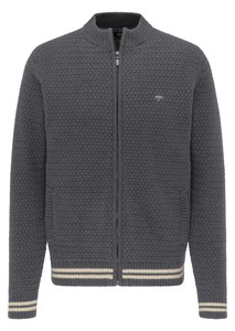 Fynch-Hatton Cardigan Zip Inner Lining Vest Navy