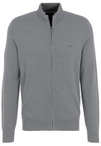 Fynch-Hatton Cardigan Zip Merino Cashmere Vest Silver
