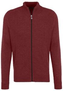Fynch-Hatton Cardigan Zip Structure Vest Scarlet