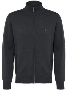 Fynch-Hatton Cardigan Zip Uni Vest Charcoal