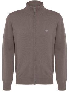 Fynch-Hatton Cardigan Zip Uni Vest Earth