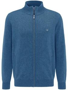 Fynch-Hatton Cardigan Zip Vest Azure