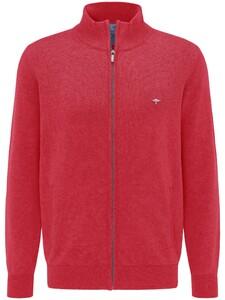 Fynch-Hatton Cardigan Zip Vest Hibiscus