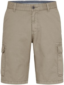 Fynch-Hatton Cargo Shorts Cotton Garment Dyed Bermuda Beige