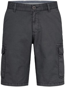 Fynch-Hatton Cargo Shorts Cotton Garment Dyed Bermuda Charcoal