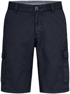 Fynch-Hatton Cargo Shorts Cotton Garment Dyed Bermuda Navy